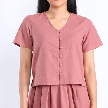 Brea Blouse in Dusty Rose