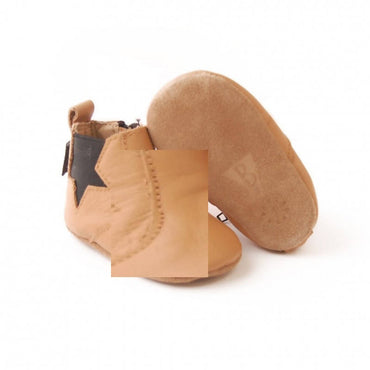 Bebebundo Baby Leather Shoes - Brown Star Boots Collection