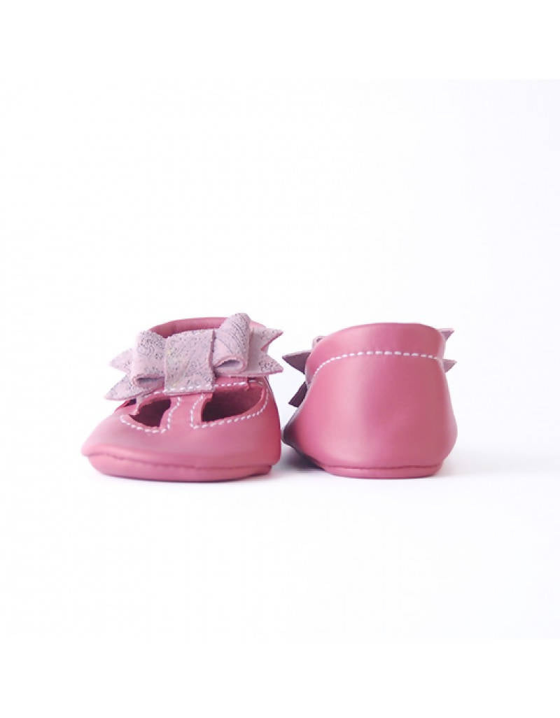 Bebebundo Baby Leather Shoes - Sweet Bow - Pink Collection
