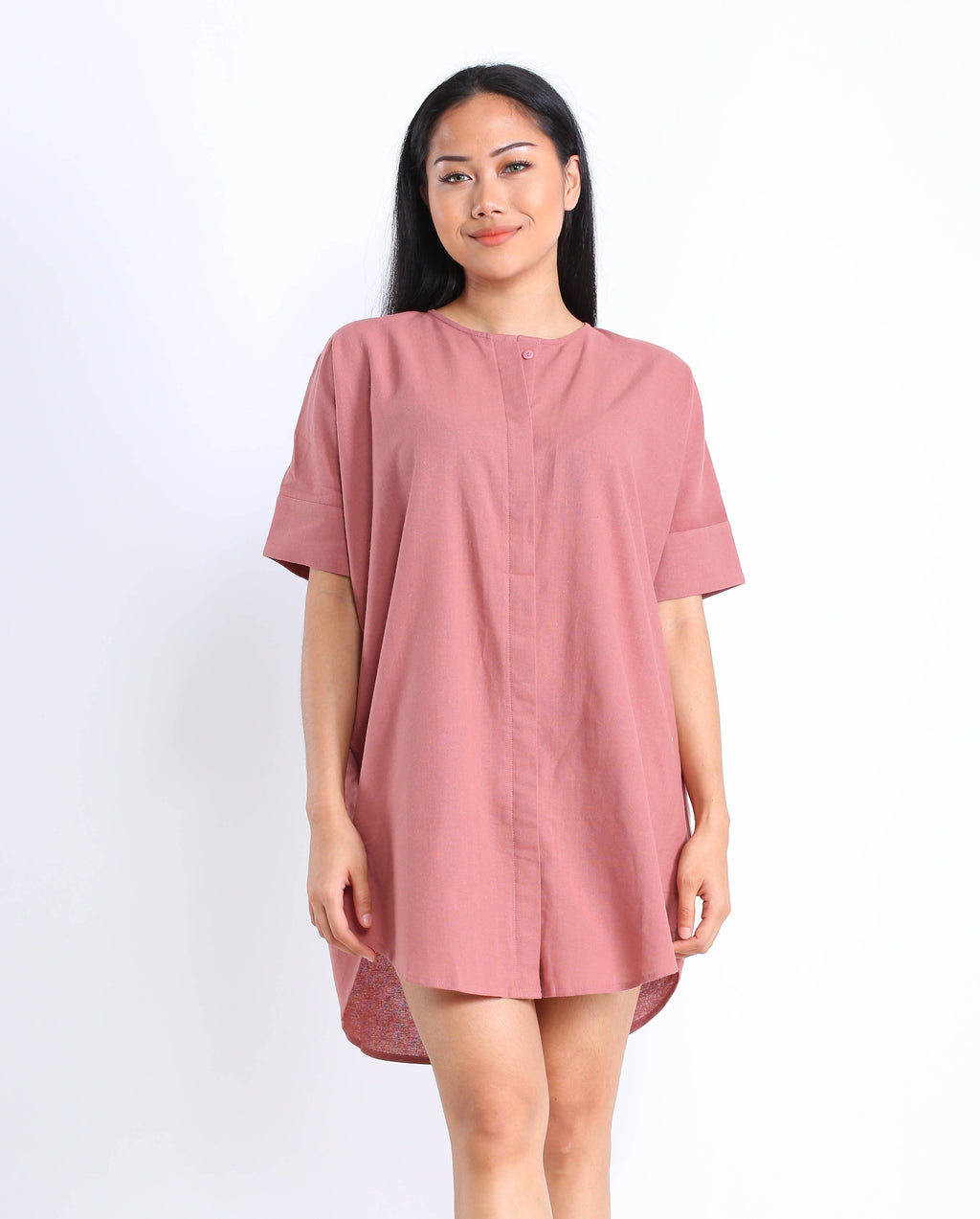 Lula Shirtdress in Dusty Rose