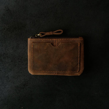 Align.Co Genuine Leather Top Zip Wallet