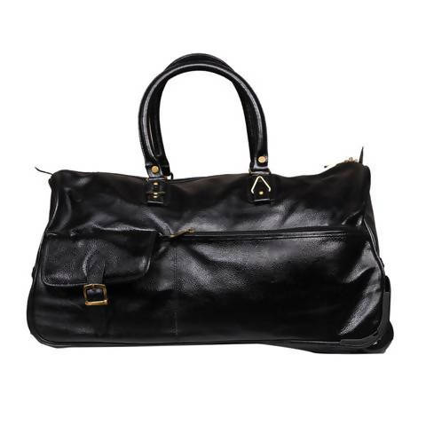 Leather Trolley Bag - Black
