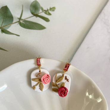 Pink Roses Mini Short Capsule Dangle
