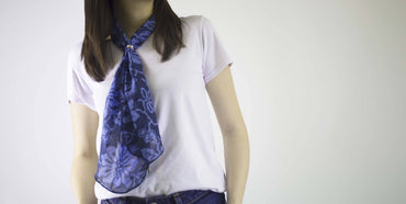 Scarf - Blue Flower