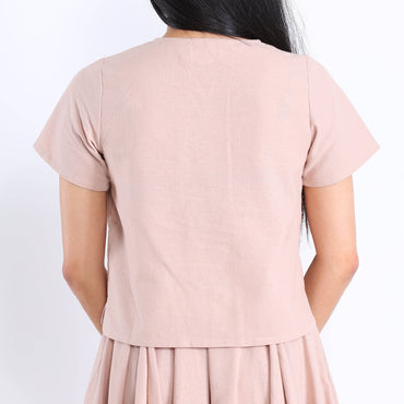 Brea Blouse in Pale Pink