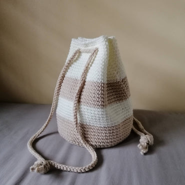 Creame Crochet Bucket Bag