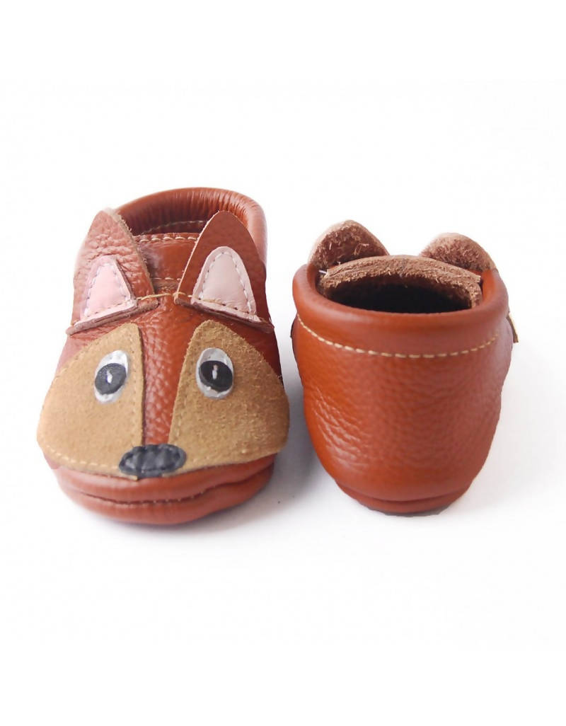 Bebebundo Baby Leather Shoes - Chipmunk Zoo Animal