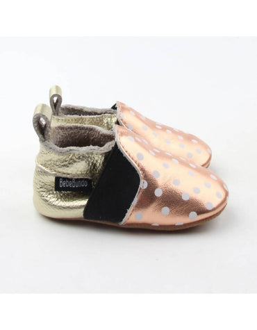 Bebebundo Baby Leather Shoes - Dots Sunset Collection