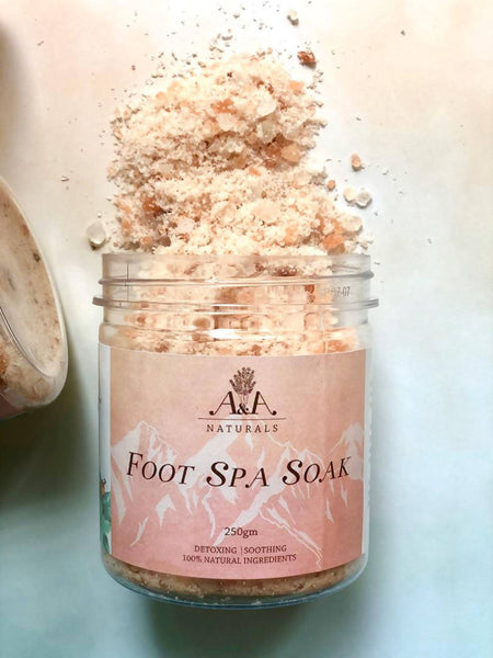 Foot Spa Soak with Himalayan Pink Salt