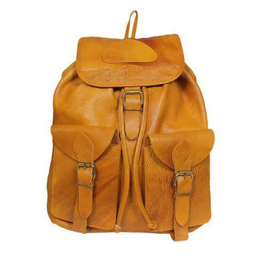 Leather Backpack - Light Brown