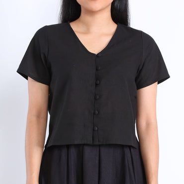 Brea Blouse in Black