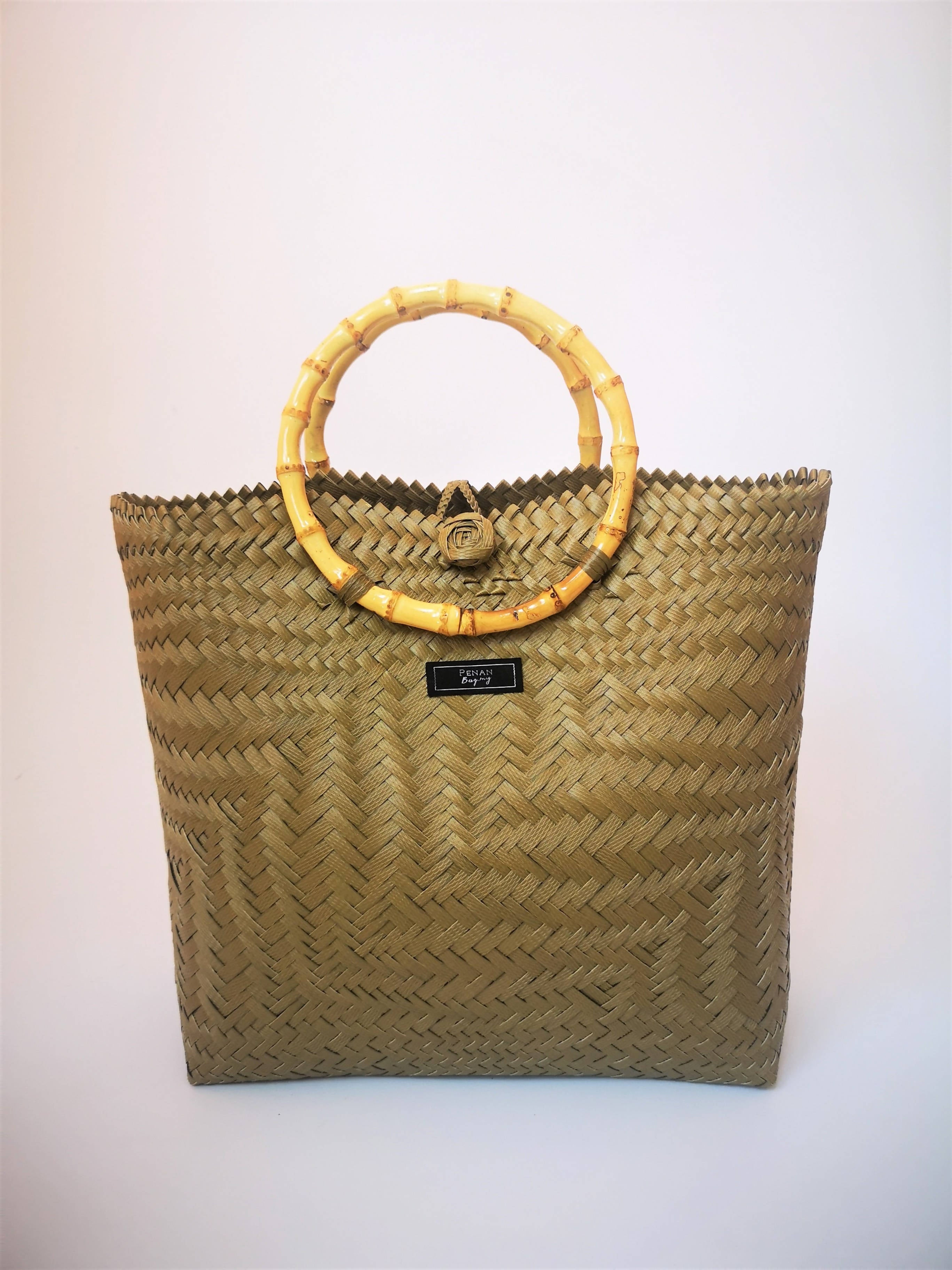 Penan Tote with Bamboo handle