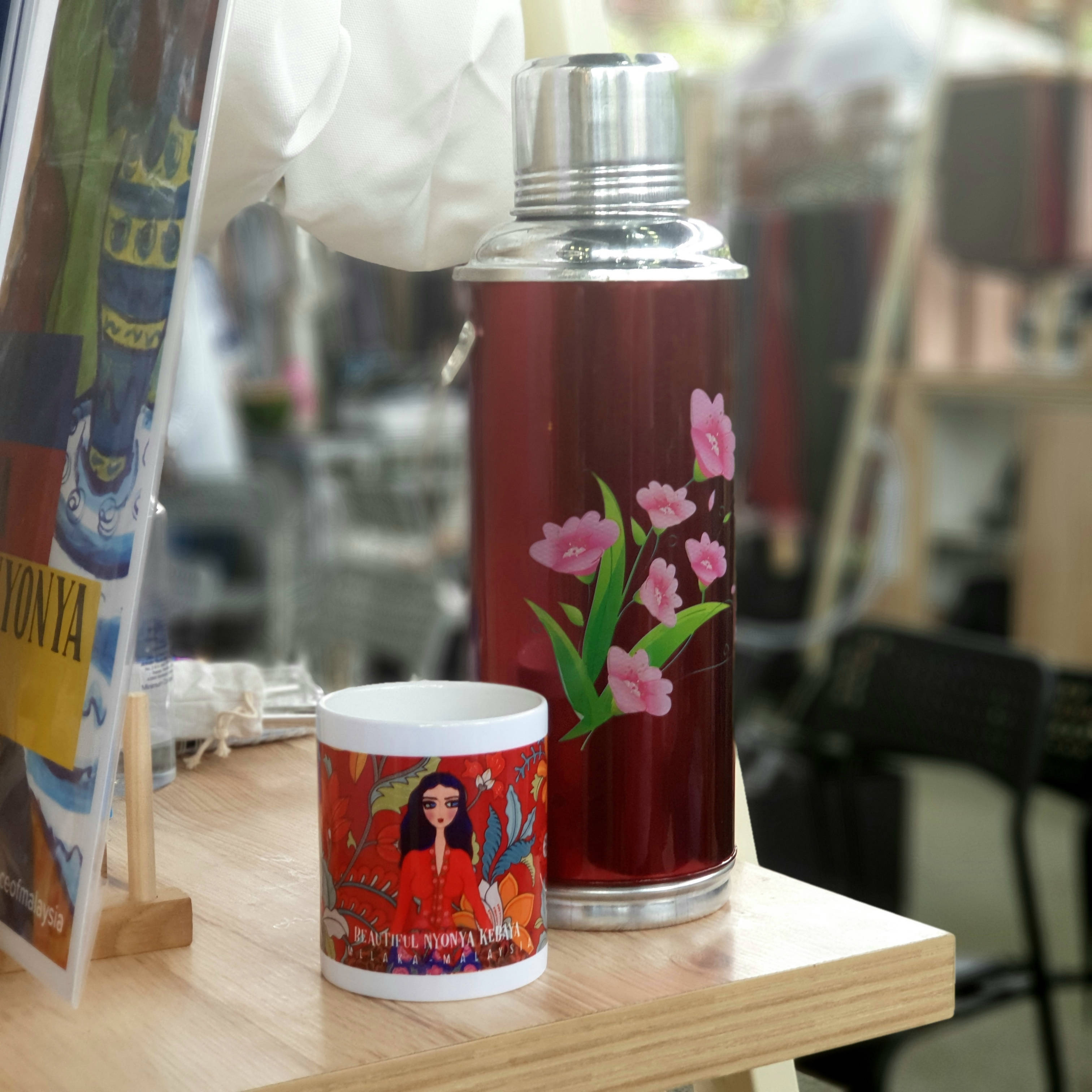 Lady In Red Kebaya Ceramic Mug