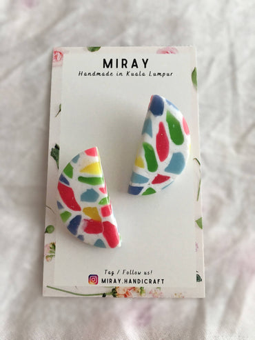Handmade Polymer Clay Candy Terrazzo Earrings