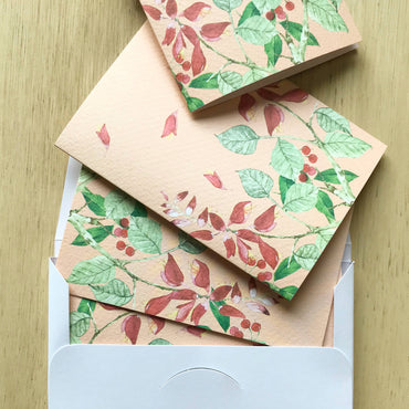 Blank Greeting Card - Coral Tree by Paperweight Studio
