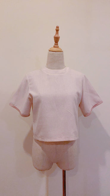 Light Peach Textured Top