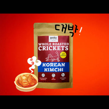 Whole Roasted Crickets Snack-Korean Kimchi