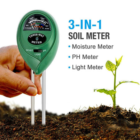 3 in 1 Soil pH Meter For Garden Soil pH Moisture and Light Soil Tester