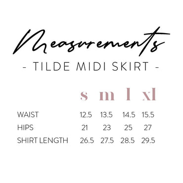 Tilde Midi Skirt in Black