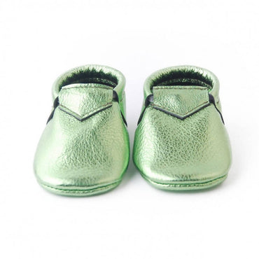 Bebebundo Baby Leather Shoes - Jade Metallic Collection