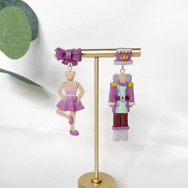 The Nutcracker With Ballerina Girl Gradient Pink 2 Earrings