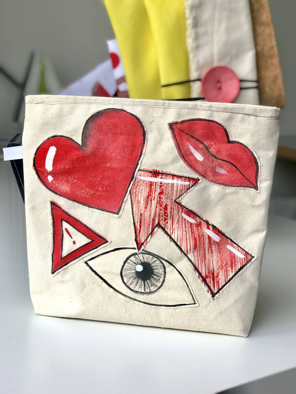 Hand painted pouch bag