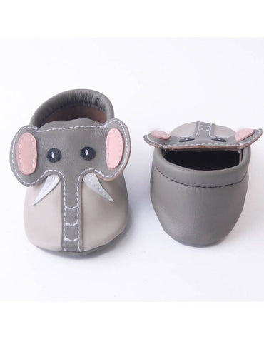 Bebebundo Baby Leather Shoes - Elephant Zoo Animals