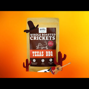 Whole Roasted Crickets Snack-Texas BBQ