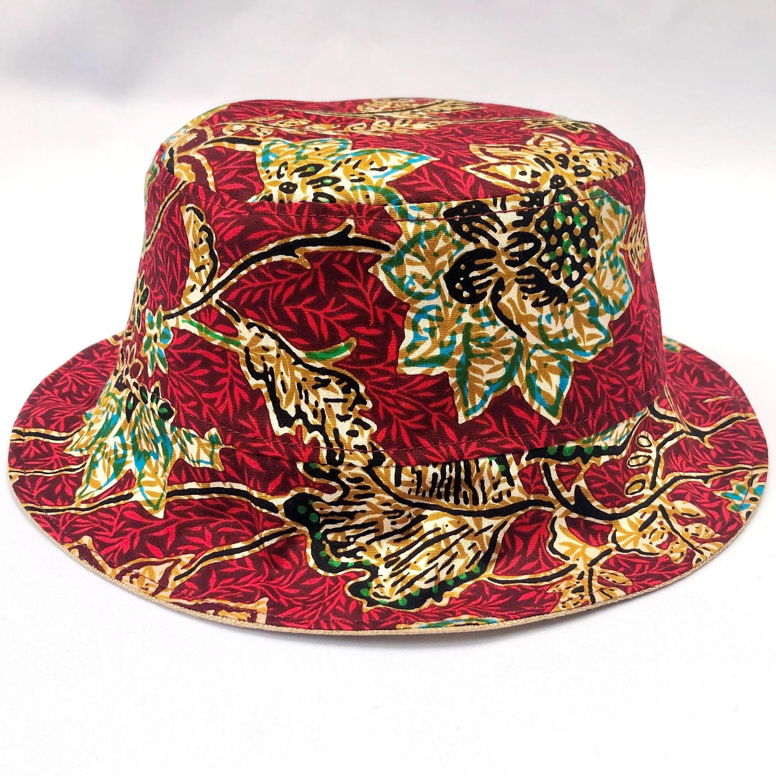 Strawberry Batik Bucket Hat