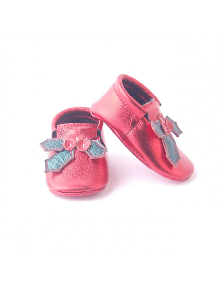 Bebebundo Baby Leather Shoes - Holy Berry Xmas Collection
