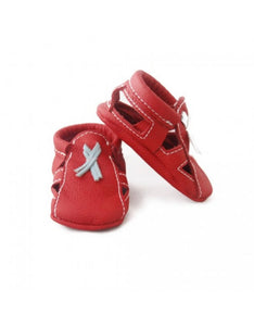 Bebebundo Baby Leather Shoes - Crimson Sandals Moccasins
