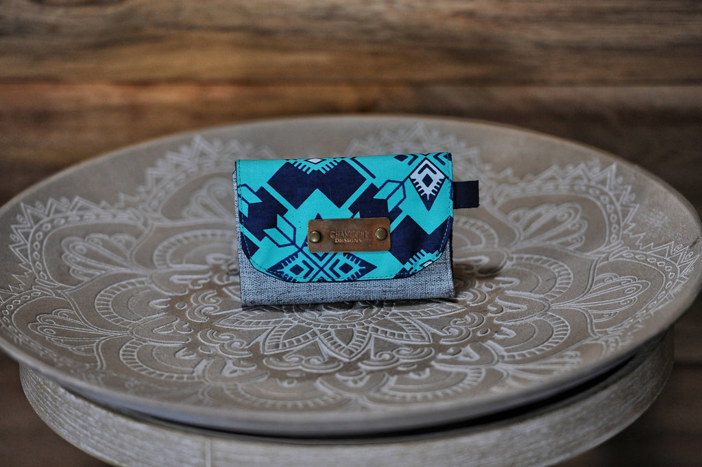 Mini Wallet - Blue Teal
