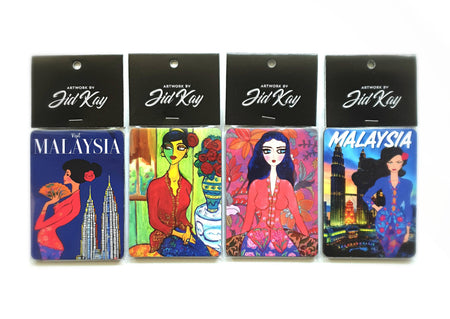 Nyonya Kebaya Artworks Fridge Magnets Set