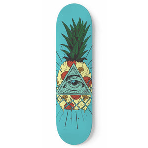 The Illuminati made Pineapple Pizza Skateboard Wall Art