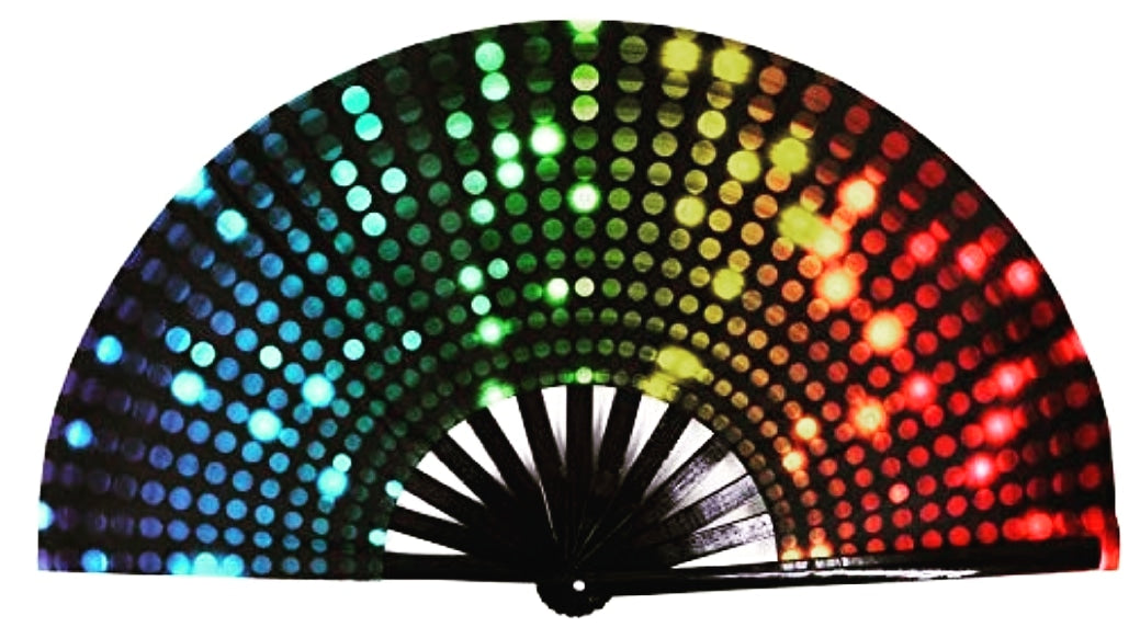 Rave Lights Colored Dots Click Clack Fan