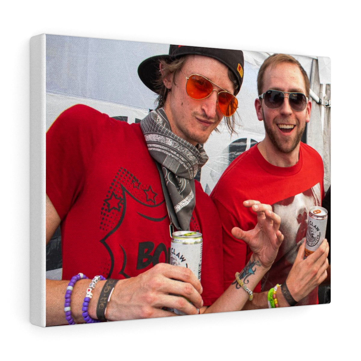 Far Out and Fancy Bromance Claws Printed Canvas