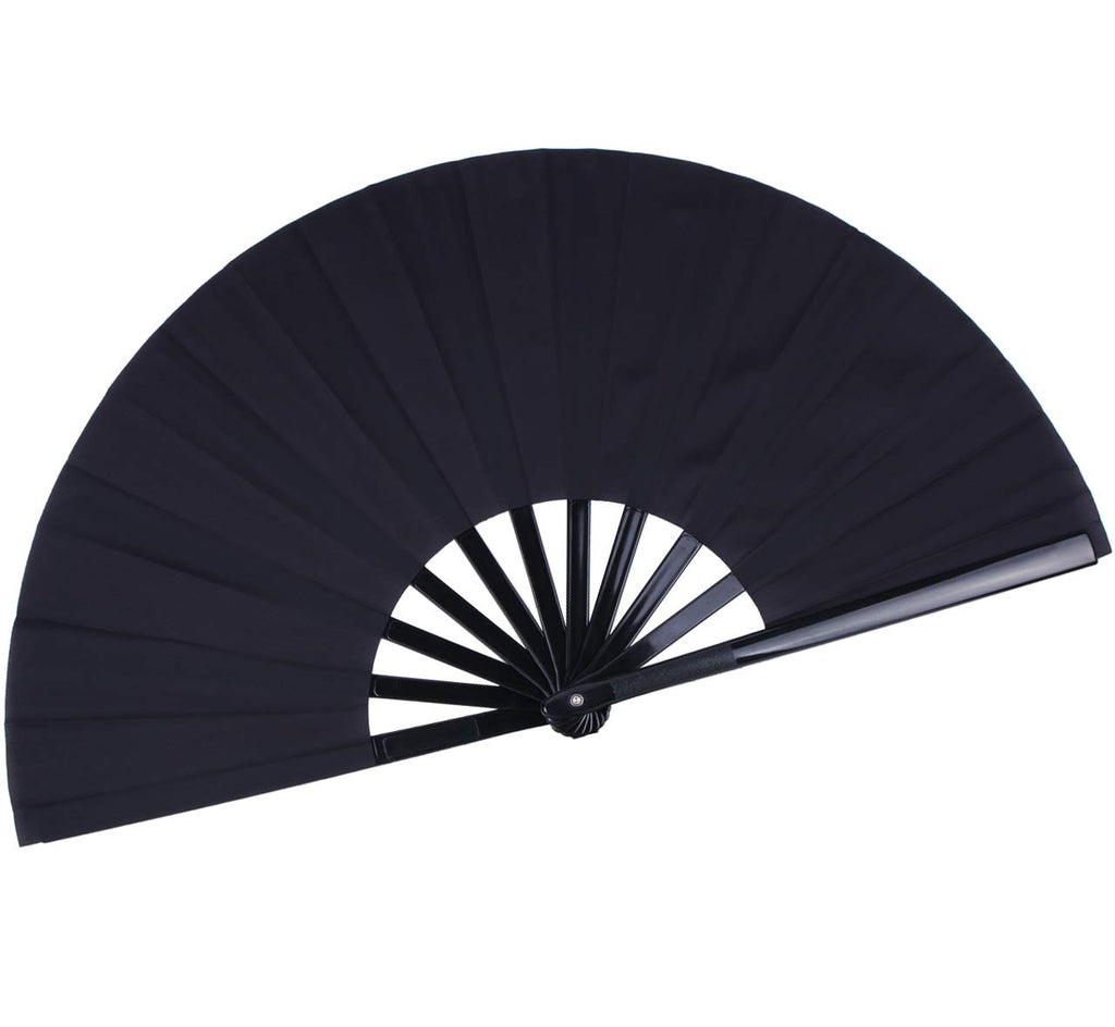 All Black Hand Fan