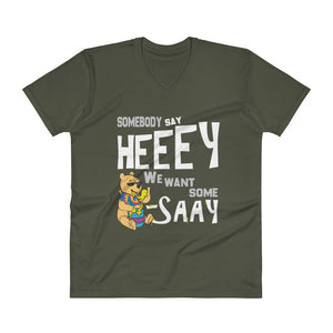 We Want Some Pooh-SAY Men's Vneck
