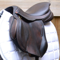 "Albion Kontact Lite Monoflap Jump Saddle 17"" Medium, Brown (SKU142)"