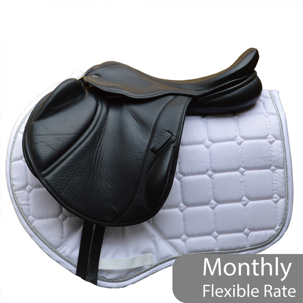 "16.5"" MW Silhouette mono-flap Insignia event / jump saddle,  Black - Buy It Now (SKU149)"