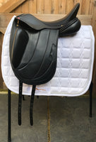 Albion Fabrento Dressage Saddle 17in Wide Adjusta Model, Black (146)