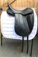 Albion Fabrento Dressage Saddle 17in Wide Adjusta Model, Black (SKU146)