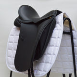 "17.5"" Medium Silhouette Classic Dressage Saddle, Black (SKU165)"