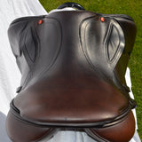 "Albion Kontact Lite Monoflap Jump Saddle 17.5"" Medium Wide, Brown - Buy it now"
