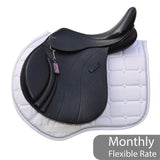 "GFS Monarch 17"" Regency-X Jump Saddle, Adjustable Gullet (Ex-demo)- Black (SKU178)"