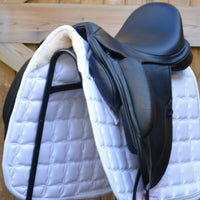"Fairfax Gareth 17.5"" Adjustable Gullet Monoflap Dressage Saddle, Black (SKU129)"