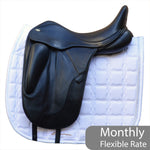 "Fairfax Gareth 17.5"" Adjustable Gullet Monoflap Dressage Saddle"