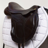 "Fairfax 17""Original Monoflap Jump Saddle, Adjustable, Brown (SKU151) - Buy It Now"