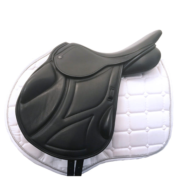 "Ideal Impala Pro Monoflap Jumps Saddle 17"" Wide Black- Buy it now (SKU120)"