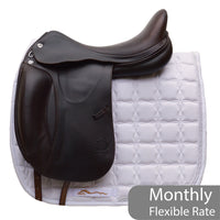 "Prestige X-D1 D K 18"" L Monoflap Calfskin Dressage Saddle (X-Technology), Brown (143)"